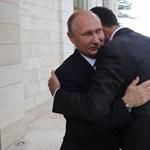 Meglátogatta Putyint a szír elnök