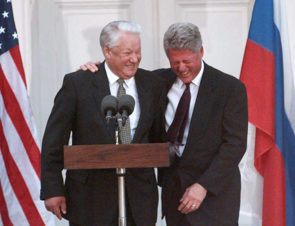 1995.10.23. - Borisz Jelcin és Bill Clinton találkozója a Hyde Parkban - CLNTNAGY