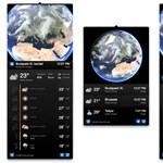 Egy programban a 3D-s földgömb és a több napos időjárás-előrejelzés