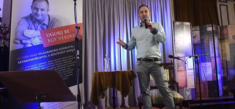 Magyar világrekord született, Lutter Imre 24 órán át szavalt