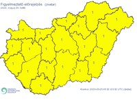 Az ország egész területére figyelmeztetést adott ki a meteorológiai szolgálat