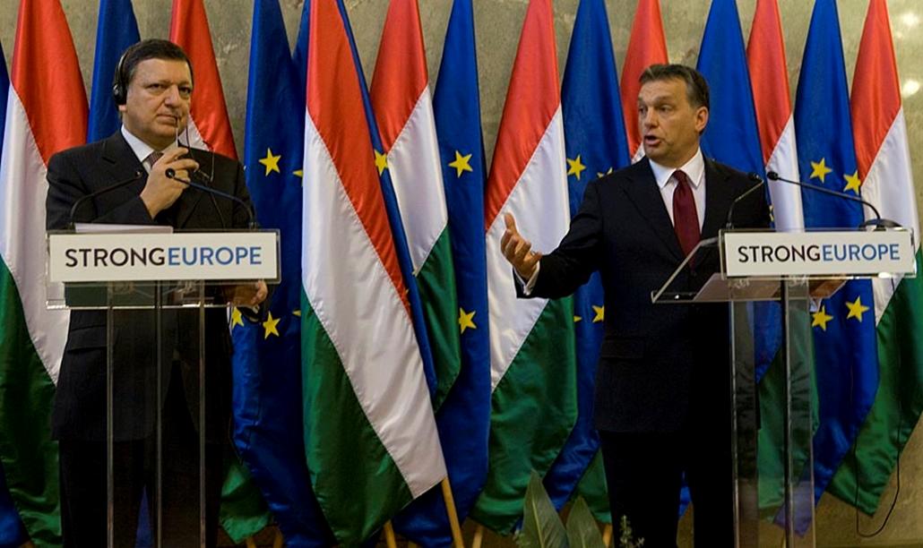 Eu-Magyar Elnökség Együttes Ülés 2011.01.07 Orbán Viktor és Jose Barosso nemzetközi sajtótájékoztató