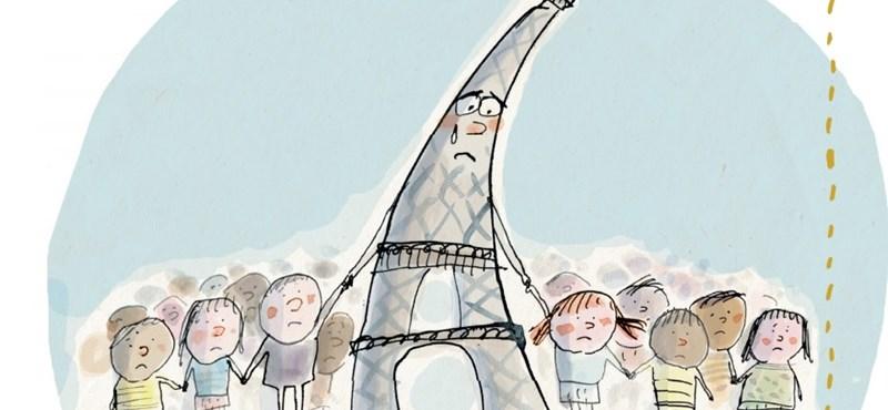 Síró Eiffel-torony magyarázná el a diákoknak, mi történt Párizsban