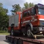 Tönkrement az adományokból vett pécsi tűzoltóautó