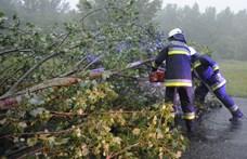 Ötven helyre riasztották a tűzoltókat a vihar miatt