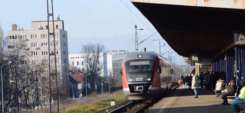 Gázolt a vonat Zuglóban