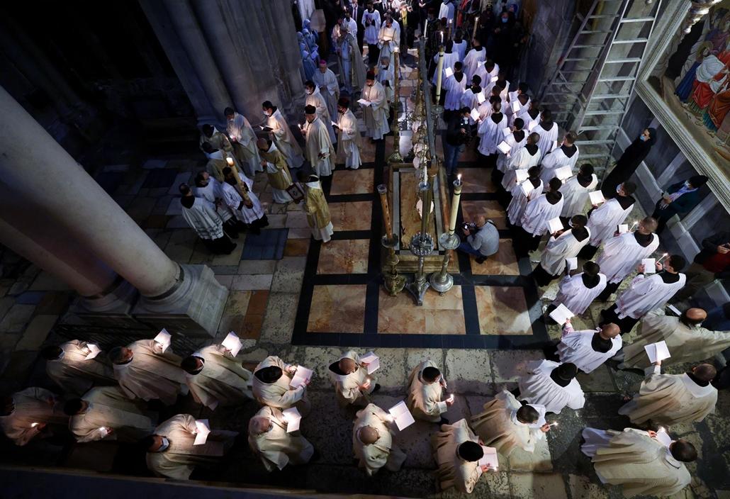 afp.21.04.04. húsvét, vasárnap, Jeruzsálem