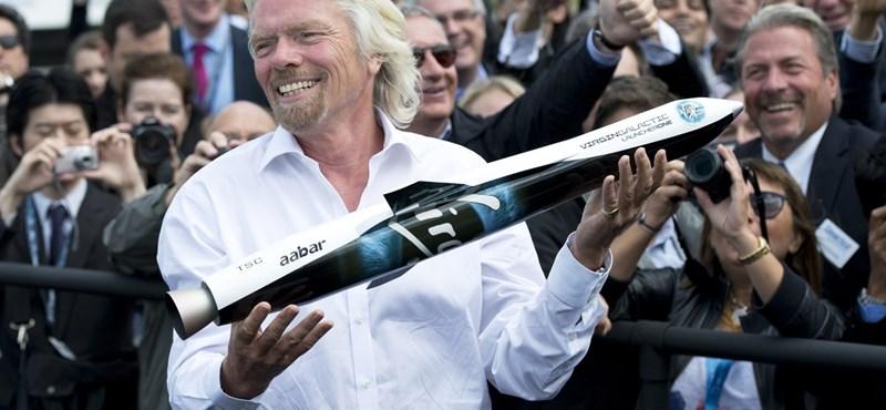 Hónapokon belül az űrbe megy Sir Richard Branson
