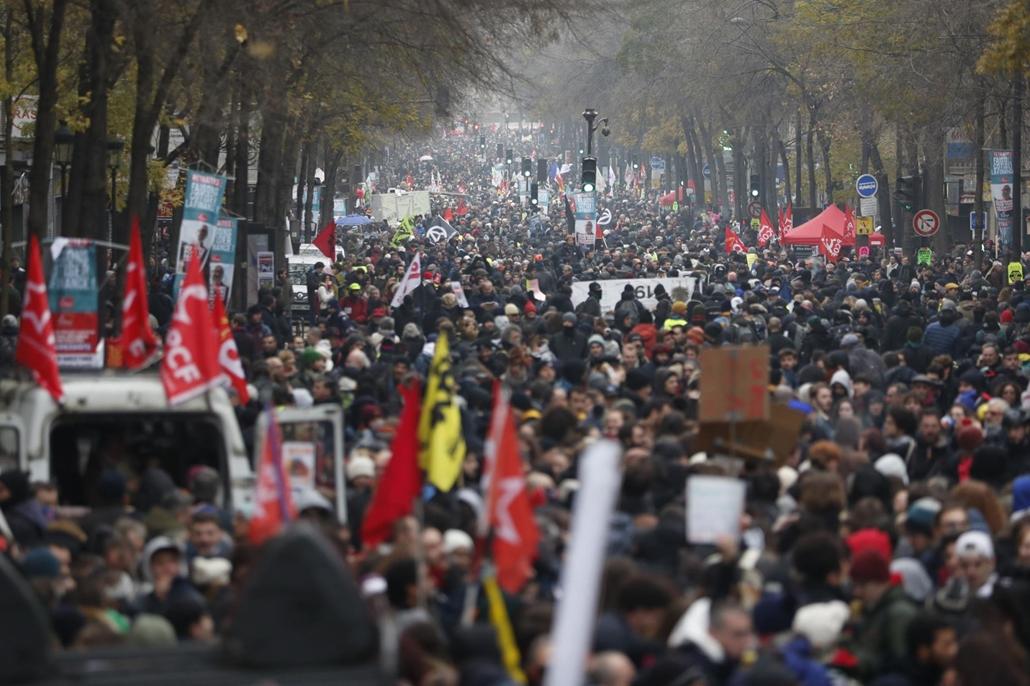 afp.19.12.05. sztrájk, Franciország