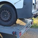 Három furgonból épült a román dilivonat, de a rendőröknek nem jött be