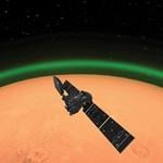 Szokatlan jelenséget, zöld fényt észleltek a Marson