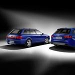 Egy régies, nagymotoros autóval tiszteleg első RS-modelljének az Audi