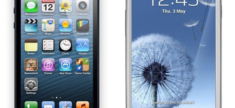 Az iPhone 5 ráver a Galaxy S III-ra és a Nexus 7-re is