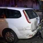 Fotókon a Nagyvárad téri 10 autós karambol