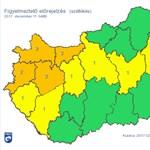 A fél országot elfújja a szél: 70-90 kilométer/órás széllökések jönnek