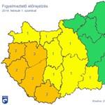 Ónos esőre figyelmeztetnek a Dunántúlon