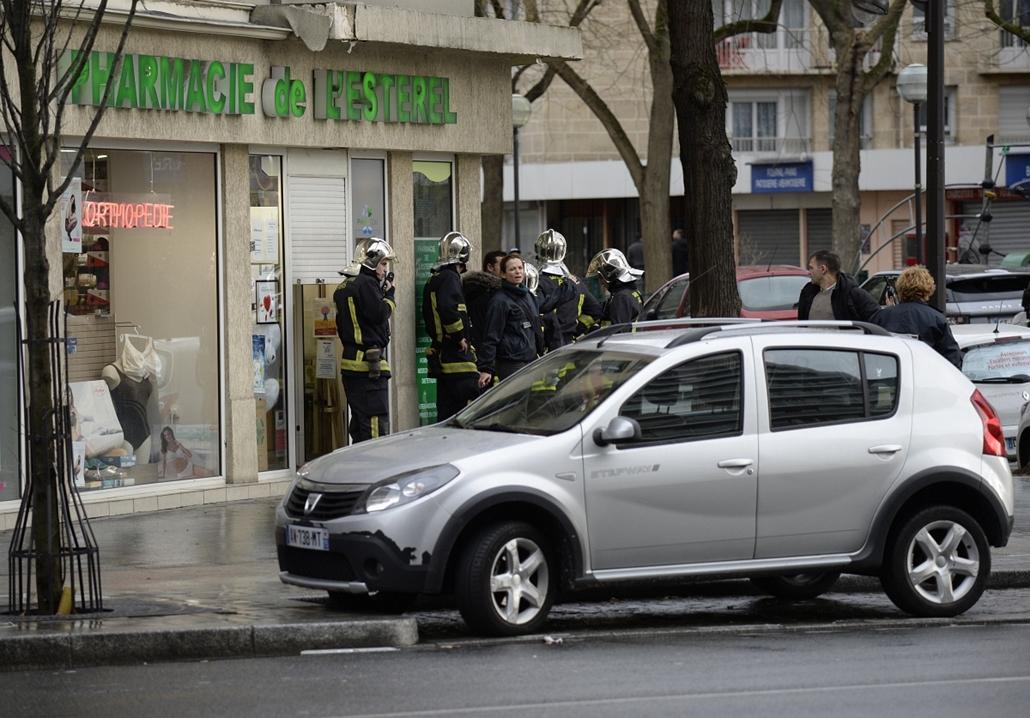 afp. lövöldözés Párizsban, Párizsi vérengzés, Charlie Hebdo, túszejtés, túszdráma, Dammartin-en-Goele, 2014.01.09. kóser üzlet,