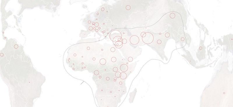 Az ENSZ szerint Magyarország nem nyögi a menekülteket – térképek