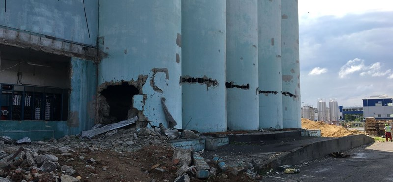 Így robbant fel egy siló Nyírbátorban – videó