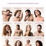 Meztelenül élvez 12 magyar kritikus egy plakáton – fotó
