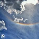 Csodás mintákat rajzolt az égre ma a nap a Dunántúlon