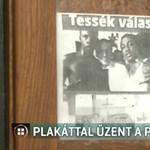 A hegyfalui plébános is beszállt az EP-kampányba: riogató plakátot rakott ki
