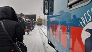 A Dél-Dunántúlon legyőzte a MÁV-ot a tavaszi havazás