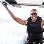 Vicces szörfös felvételek készültek Obamáról