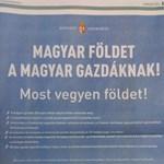 Egész oldalas hirdetésben toboroz földvásárlókat a kormány - fotó