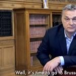 Orbán egy széknek támaszkodva mondta el, hogy Brüsszelbe megy harcolni a migráció ellen
