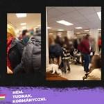 Zsúfolt tömegben várják az oltást az emberek a Jahn Ferenc Kórházban
