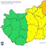 Besárgult az ország nagyobbik fele, 50 milliméter eső is zúdulhat egy megyére – térkép