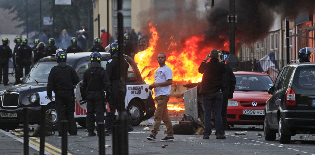 London, zavargások, rendbontás, vandalizmus