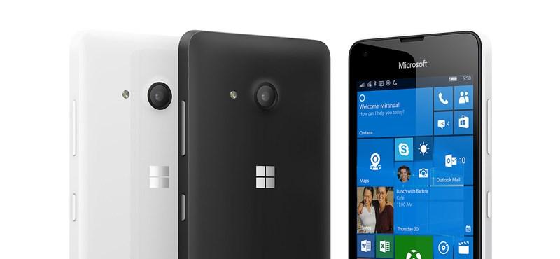 Itt a legolcsóbb Windows 10-es telefon