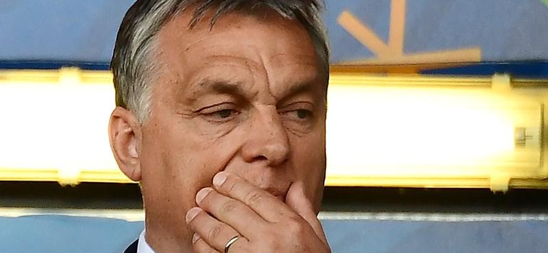 Fotó: Orbán így látta a Belgium elleni meccset