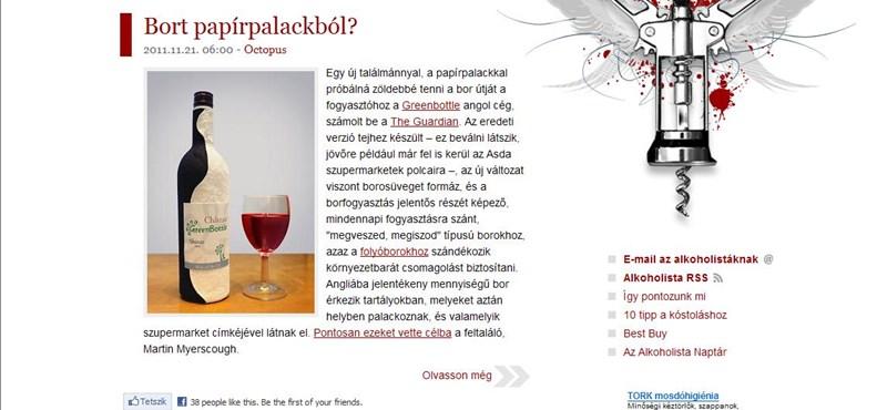 Ön inna bort papírpalackból?