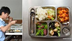 Mit esznek a kínai iskolások? Fotók