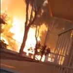 Ez maga a pokol: a görög férfi videóra vette, ahogy elbújt a tűz elől