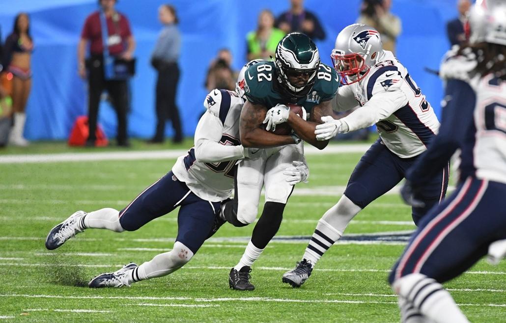 afp.18.02.04. - Minneapolis, USA: Wendell Smallwood (28) az 52. alkalommal megrendezett Super Bowl döntőjén a minneapolisi U.S. Bank Stadionban 2018. február 4-jén. - amerikaifutball, amerikai foci, nfl