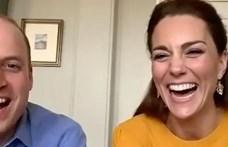 Vilmos herceg és Katalin hercegné videóban köszönt be egy általános iskolába