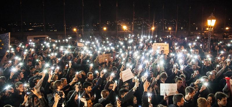 A Magyar Rádiónál volt a tüntetés nagyjelenete