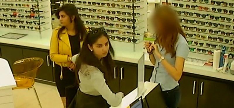 Napszemüveget loptak egy plázából, keresi őket a rendőrség