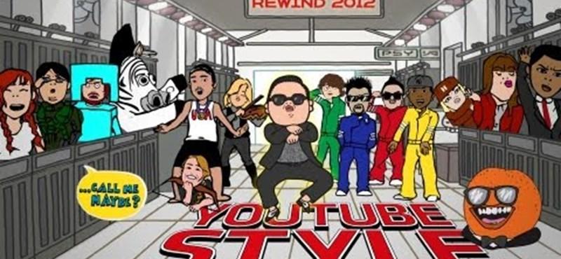 A legnézettebb YouTube-videók 2012-ben