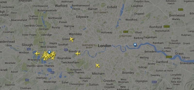Légiforgalom-korlátozást rendeltek el Angliában
