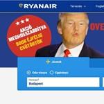 A Ryanair azonnal kifigurázta Trumpot