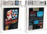 36 millióért vásárolt meg valaki egy aukción egy bontatlan Super Mario játékot