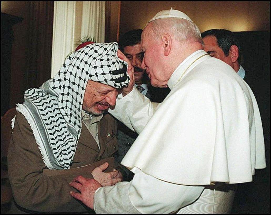afp.96.12.19. - Vatikán: találkozás Jasszer Arafat palesztin vezetővel - II. János Pál pápa