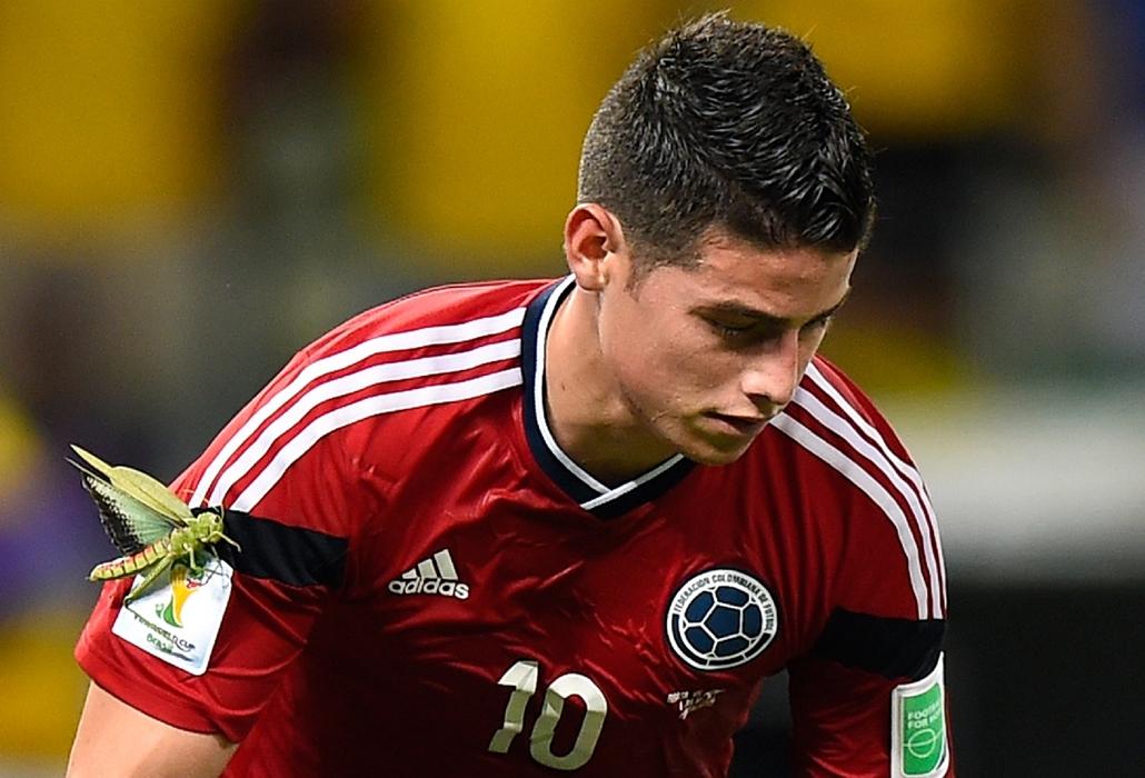 afp.14.07.04. - Fortaleza, B.RAZ: 57. meccs – kolumbia-brazil-kolumbia meccs - vb14meccs, foci-vb 2014, James Rodriguez, sáska