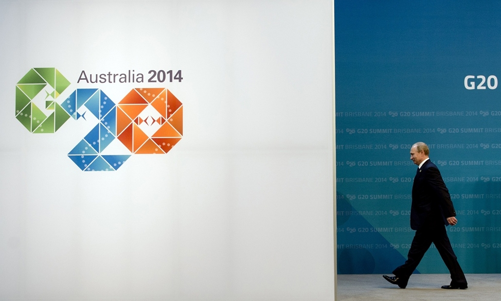 afp.14.11.16. - Brisbane, Ausztrália: Vlagyimir Putyin a G20 csúcstalálkozón. - 7képei