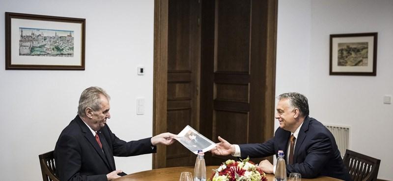 Orbán: Magyarország és Csehország kapcsolataiban nincsenek problémás ügyek